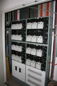 Electricity meters are located in a marked cupboard in the common area on each floor.